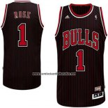 Camiseta Chicago Bulls Derrick Rose #1 Retro Negro