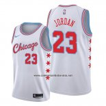 Camiseta Chicago Bulls Michael Jordan #23 Ciudad Edition 2017 #18 Blanco