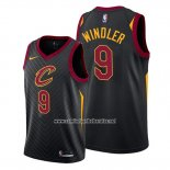 Camiseta Cleveland Cavaliers Dylan Windler #9 Statement 2019-20 Negro