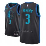 Camiseta Dallas Mavericks Daryl Macon #3 Ciudad 2018-19 Azul
