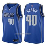 Camiseta Dallas Mavericks Harrison Barnes #40 Icon 2017-18 Azul
