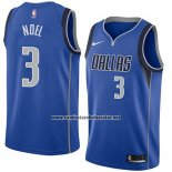 Camiseta Dallas Mavericks Nerlens Noel #3 Icon 2018 Azul
