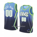 Camiseta Dallas Mavericks Personalizada Ciudad Edition 2019-20 Azul
