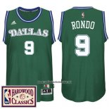 Camiseta Dallas Mavericks Rajon Rondo #9 Retro Verde