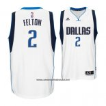 Camiseta Dallas Mavericks Raymond Felton #2 Blanco