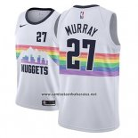 Camiseta Denver Nuggets Jamal Murray #27 Ciudad 2018-19 Blanco