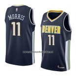 Camiseta Denver Nuggets Monte Morris #11 Icon 2018 Azul
