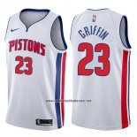 Camiseta Detroit Pistons Blake Griffin #23 Association 2017-18 Blanco