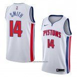 Camiseta Detroit Pistons Ish Smith #14 Association 2018 Blanco