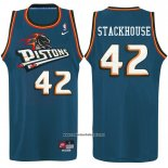 Camiseta Detroit Pistons Jerry Stackhouse #42 Azul