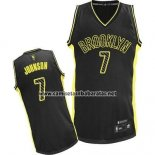 Camiseta Electricidad Moda Brooklyn Nets Joe Johnson #7 Negro