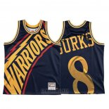 Camiseta Golden State Warriors Alec Burks #8 Mitchell & Ness Big Face Azul