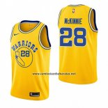 Camiseta Golden State Warriors Alfonzo Mckinnie #28 Hardwood Classic 2018-19 Amarillo