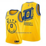 Camiseta Golden State Warriors D'angelo Russell #0 Hardwood Classics 2019-20 Oro