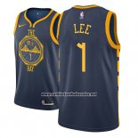 Camiseta Golden State Warriors Damion Lee #1 Ciudad 2018-19 Azul