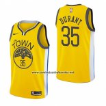 Camiseta Golden State Warriors Kevin Durant #35 Earned 2018-19 Amarillo