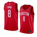 Camiseta Houston Rockets James Ennis #8 Earned 2018-19 Rojo