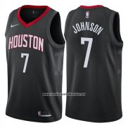 Camiseta Houston Rockets Joe Johnson #7 Statement 2017-18 Negro
