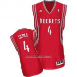 Camiseta Houston Rockets Luis Scola #4 Rojo