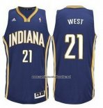Camiseta Indiana Pacers David West #21 Azul