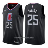 Camiseta Los Angeles Clippers Austin Rivers #25 Statement 2019 Negro