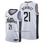 Camiseta Los Angeles Clippers Patrick Beverley #21 Ciudad Edition Blanco