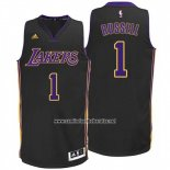Camiseta Los Angeles Lakers D'Angelo Russell #1 Negro