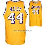 Camiseta Los Angeles Lakers Jerry West #44 Retro Amarillo