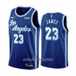 Camiseta Los Angeles Lakers Lebron James #23 Classic 2019-20 Azul
