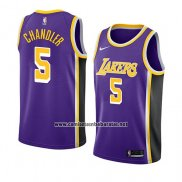 Camiseta Los Angeles Lakers Tyson Chandler #5 Statement 2018 Violeta