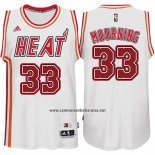 Camiseta Miami Heat Alonzo Mourning #33 Retro Blanco