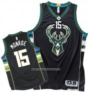 Camiseta Milwaukee Bucks Greg Monroe #15 Negro