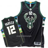 Camiseta Milwaukee Bucks Jabari Parker #12 Negro