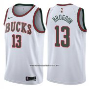 Camiseta Milwaukee Bucks Malcolm Brogdon #13 Return To Mecca Classic 2017-18 Blanco