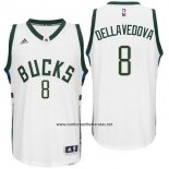 Camiseta Milwaukee Bucks Matthew Dellavedova #8 Blanco