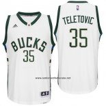 Camiseta Milwaukee Bucks Mirza Teletovic #35 Blanco