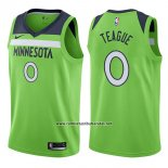 Camiseta Minnesota Timberwolves Jeff Teague #0 Statement 2017-18 Verde