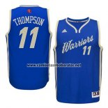 Camiseta Navidad 2015 Golden State Warriors Klay Thompson #11 Azul