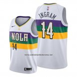 Camiseta New Orleans Pelicans Brandon Ingram #14 Ciudad Blanco