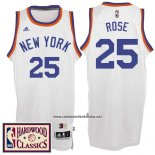 Camiseta New York Knicks Derrick Rose #25 Retro Blanco