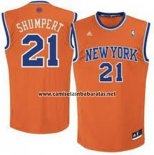 Camiseta New York Knicks Iman Shumpert #21 Naranja