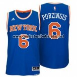 Camiseta New York Knicks Kristaps Porzingis #6 Azul