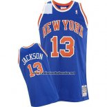 Camiseta New York Knicks Mark Jackson #13 Retro Azul