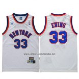 Camiseta New York Knicks Patrick Ewing #33 Retro Blanco