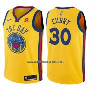 Camiseta Nino Golden State Warriors Stephen Curry #30 Ciudad Amarillo