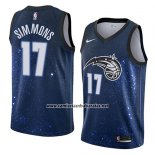 Camiseta Orlando Magic Jonathon Simmons #17 Ciudad 2018 Azul