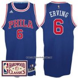 Camiseta Philadelphia 76 Retroers Julius Erving #6 Retro Azul