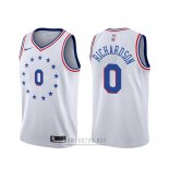 Camiseta Philadelphia 76ers Josh Richardson #0 Earned Blanco