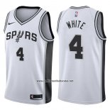 Camiseta San Antonio Spurs Derrick White #4 Swingman Association 2017-18 Blanco