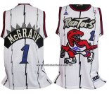 Camiseta Toronto Raptors Tracy McGrady #1 Retro Blanco